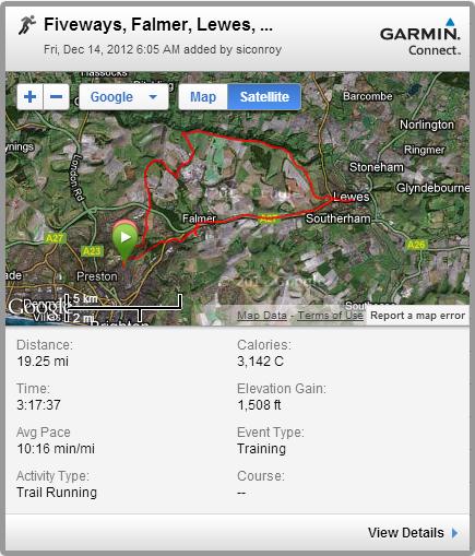 Fiveways, Falmer, Lewes, SDW, Ditchling Beacon - 19m loop